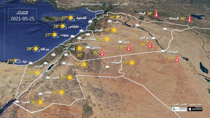 بلاد الشام | الحرارة ترتفع من جديد وتعود إلى مستوياتها الطبيعية الأيام القادمة