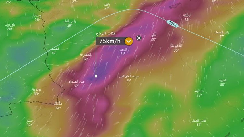 Algeria | The activity of the southern winds that raises dust waves in these areas renewed on Friday