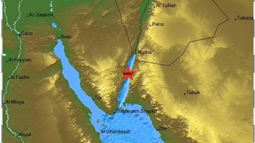 زلزال يضرب خليج العقبة