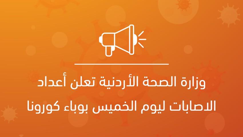 Le ministère jordanien de la Santé annonce le nombre de contaminations pour jeudi avec l'épidémie de Corona