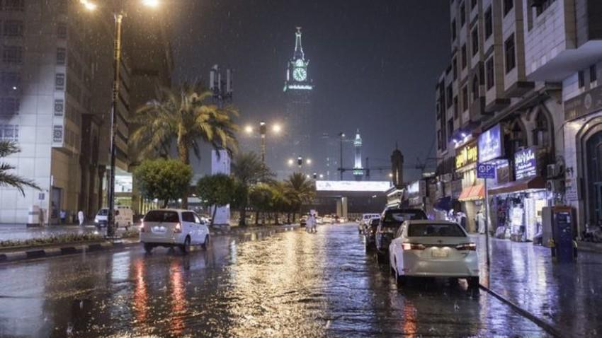 مكة المكرمة | تحسن فرص الأمطار اعتباراً من الأحد واشتداد إضافي على الأمطار نهاية الأسبوع .. تفاصيل