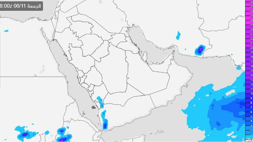 السعودية | المناطق المشمولة بتوقعات الأمطار يومي الجمعة والسبت
