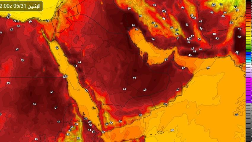 تنبيه مبكر | ارتفاعات متتالية على الحرارة لتقارب الـ 50 في أجزاء من الشرقية والرياض الأسبوع القادم