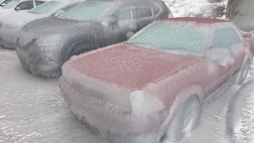 صورة من الطقس في روسيا هذه الايام