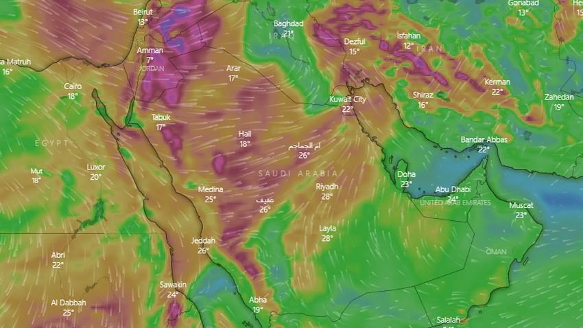 السعودية | فرصة عالية للغبار في العديد من مناطق المملكة يوم الجمعة