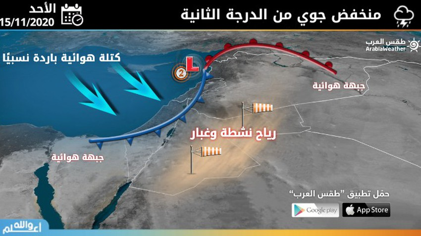الأردن-الأحد | منخفض جوي من الدرجة الثانية(اعتيادي)يجلب الامطار والانخفاض على درجات الحرارة