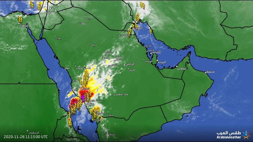 تحديث-السعودية | سُحب رعدية قوية تؤثر على جنوب البلاد