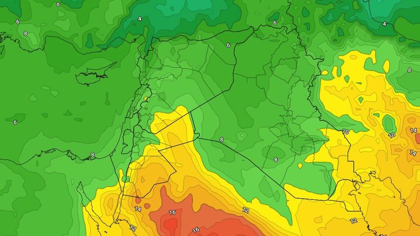 الأردن | طقس مستقر الأثنين وحالة محدودة من عدم الاستقرار الجوي مساء الثلاثاء تتركز شرقاً