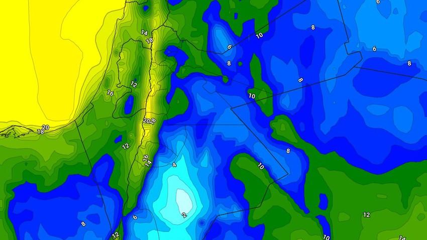 الليلة | طقس بارد ورطب مع تشكل الضباب في اجزاء واسعة من السهول الشرقية والبادية الشرقية