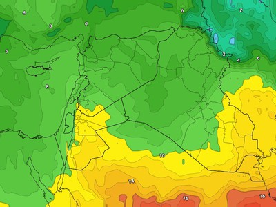 Jordan - Weekend | Temperature variation and thunderstorms rain in some areas