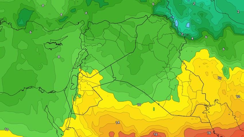 الأردن-نهاية الأسبوع   تباين درجات الحرارة وزخات رعدية من المطر في بعض المناطق