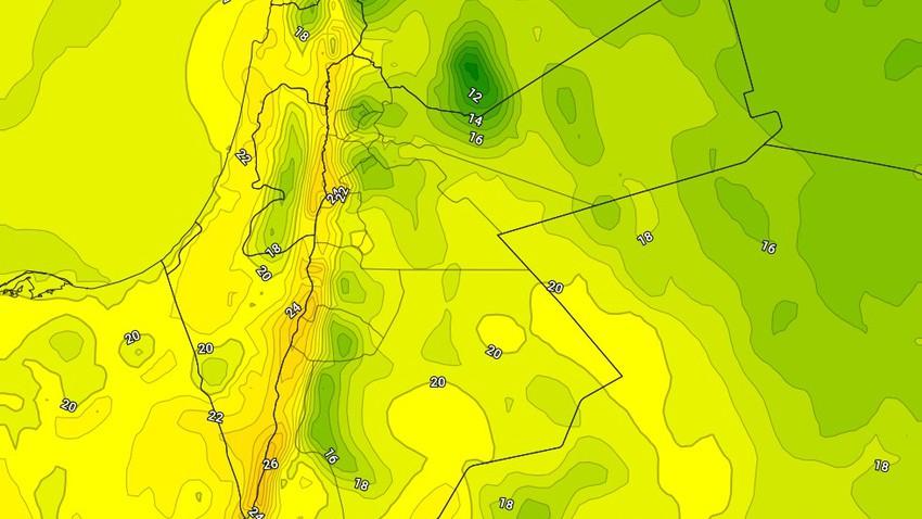 الخميس | عودة الاجواء المستقرة مع تجدد هبوب الرياح الشرقية التي تزيد من الاحساس بالبرودة