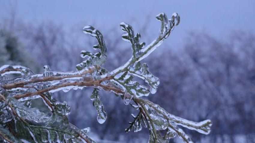 الليلة   انخفاض ملموس على درجات الحرارة مع تشكل الصقيع في بعض المناطق