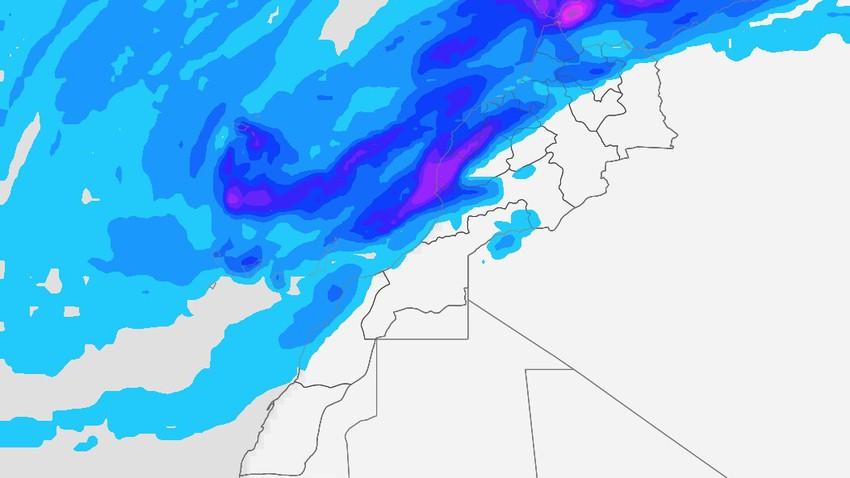 المغرب-نهاية الأسبوع | اشتداد متوقع على حدة المُنخفض الجوي العميق. التفاصيل