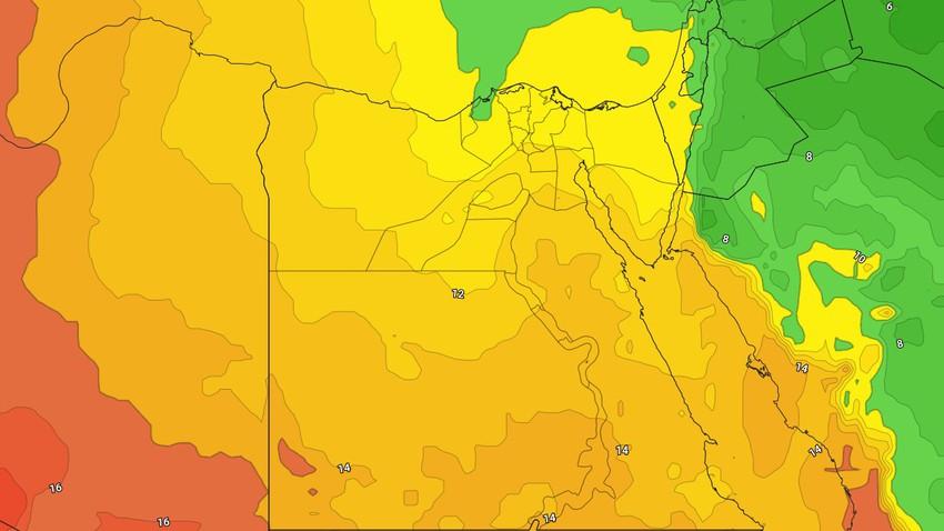 مصر-نهاية الأسبوع | انخفاض على درجات الحرارة وأجواء ابرد من المعتاد خاصة في ساعات الليل
