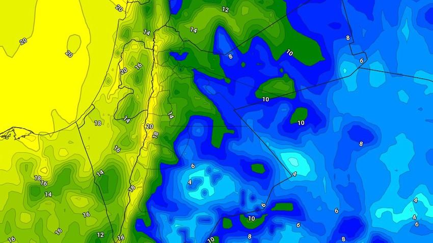 الأردن | ارتفاع واضح على درجات الحرارة الليلة مع ظهور كميات من السُحب العالية