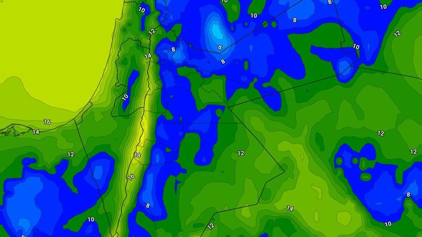 الليلة | بدء تأثر المملكة بمُنخفض جوي من الدرجة الثانية مع انخفاض حاد على الحرارة وهطول زخات من الأمطار في بعض المناطق