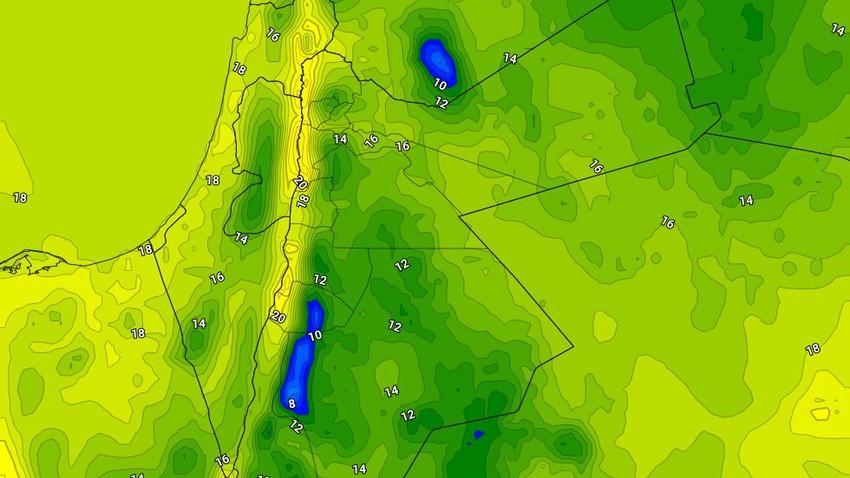 الجمعة   انخفاض على درجات الحرارة واستمرار حالة من عدم الاستقرار الجوي