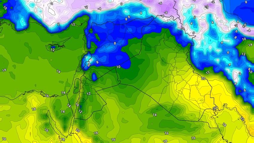 العراق | طقس بارد الأحد واستمرار فرص الهطولات في بعض الأجزاء خاصة الشمالية منها