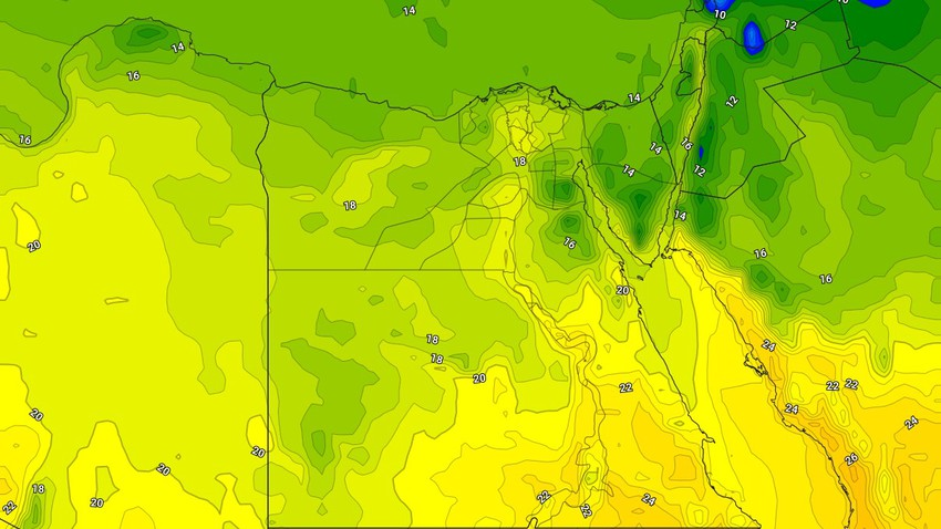 Egypt | Relatively cold weather on Sunday and the continued chances of rain in the northern regions