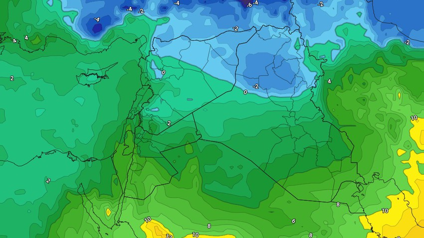 Iraq | Relatively cold weather on Monday, and the chances of freezing remaining forming at night hours