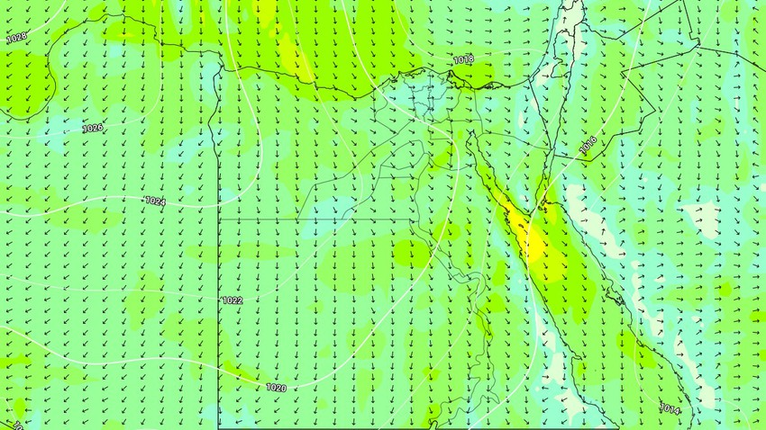 Egypt | A decrease in temperatures on Wednesday, with the possibility of showers of rain in some areas