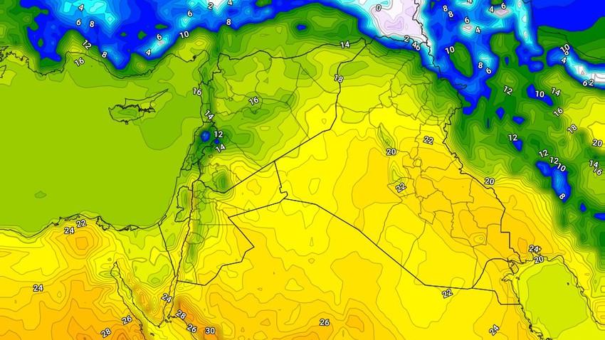 العراق | طقس دافئ الأحد مع ظهور السُحب على ارتفاعات مُختلفة