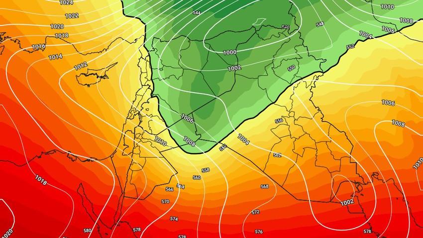 العراق - نهاية الأسبوع | طقس عاصف وامطار غزيرة مُتوقعة الجمعة
