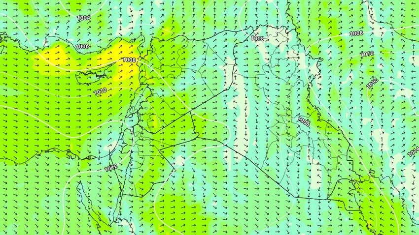Warning - Syria | Strong winds break the 100 km barrier on the northern shores