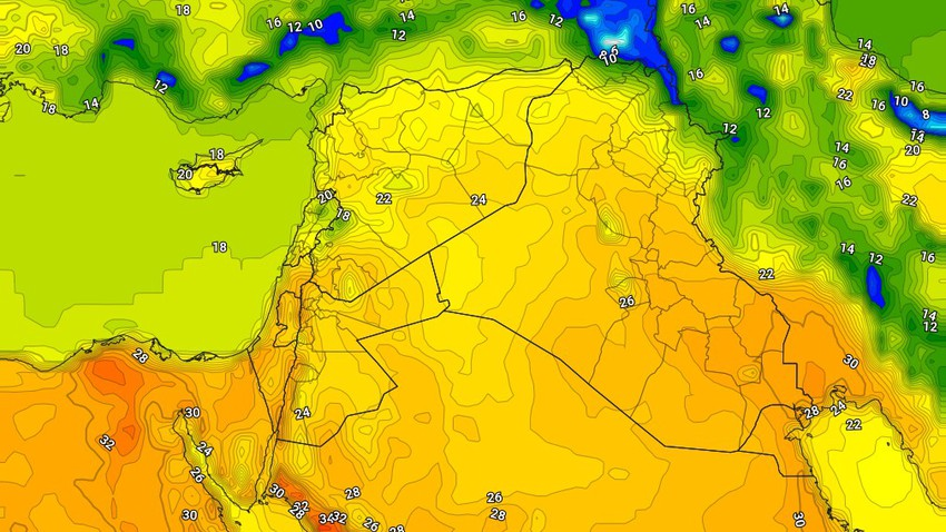 Iraq | An additional increase in temperatures on Monday and a mild spring atmosphere