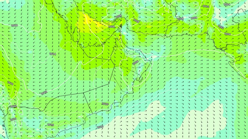 Oman | Activity expected for northwest winds on Monday