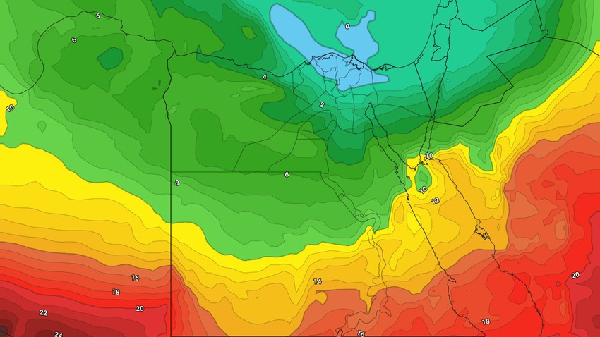 Egypt | Significant drop in weekend temperatures with activity in wind speed
