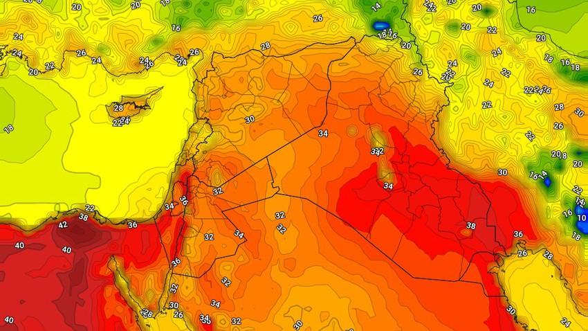 العراق | طقس حار إلى شديد الحرارة الاحد مع هبوب الرياح الشمالية الغربية