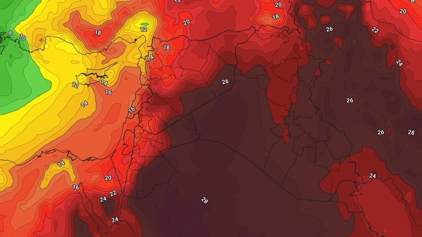 الأردن | اشتداد الموجة الحارة مطلع الأسبوع ومؤشرات على انكسارها عصر الثلاثاء ويوم الأربعاء