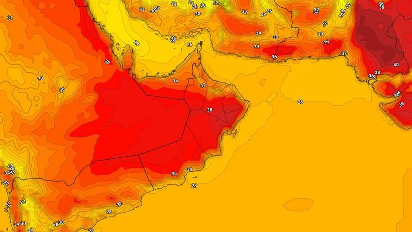 عُمان | حالة الطقس المُتوقعة في السلطنة يوم الاحد 18/4/2021