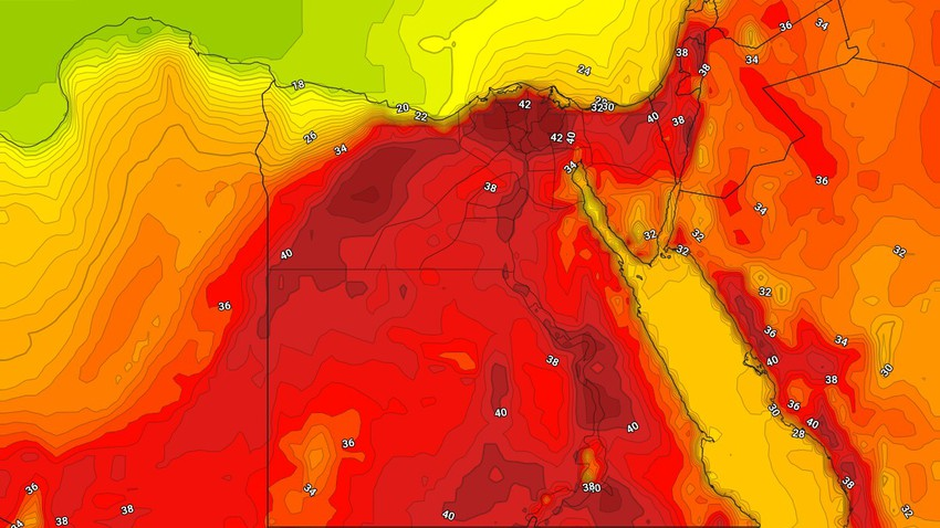 Egypt | The impact of the heat wave on the capital, Cairo, intensified on Monday