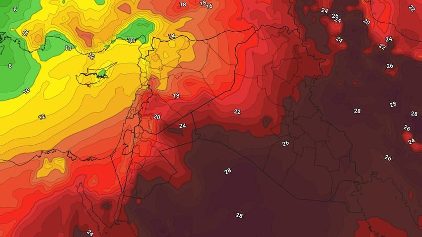 الأردن   تراجع على حدة الموجة الحارة الثلاثاء والأربعاء تزامناً مع حالة ضعيفة من عدم الاستقرار جنوب وشرق المملكة