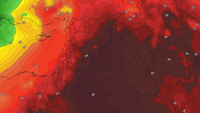 Iraq | Record temperatures exceed 40 degrees in the capital, Baghdad, on Tuesday