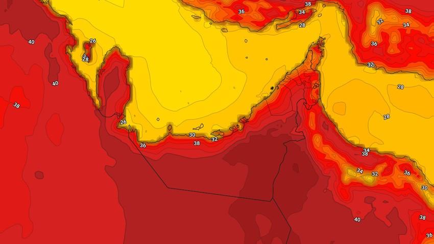 Emirates | Le pays a commencé à être affecté par une masse d'air chaud à très chaud et une température très élevée mercredi