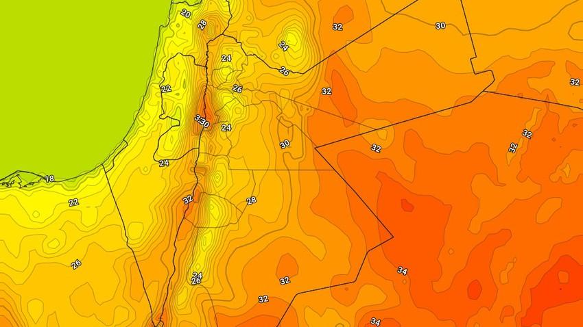 الخميس | انخفاض اضافي على درجات الحرارة واجواء ربيعية دافئة بوجهٍ عام