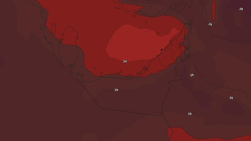 Emirates - Week-end | Une hausse supplémentaire des températures avec l'apparition de nuages moyens et hauts