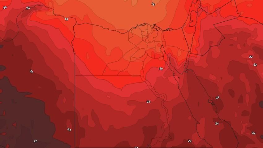 مصر - نهاية الأسبوع | ارتفاع مُتصاعد على درجات الحرارة وانحسار فرص هطول الأمطار