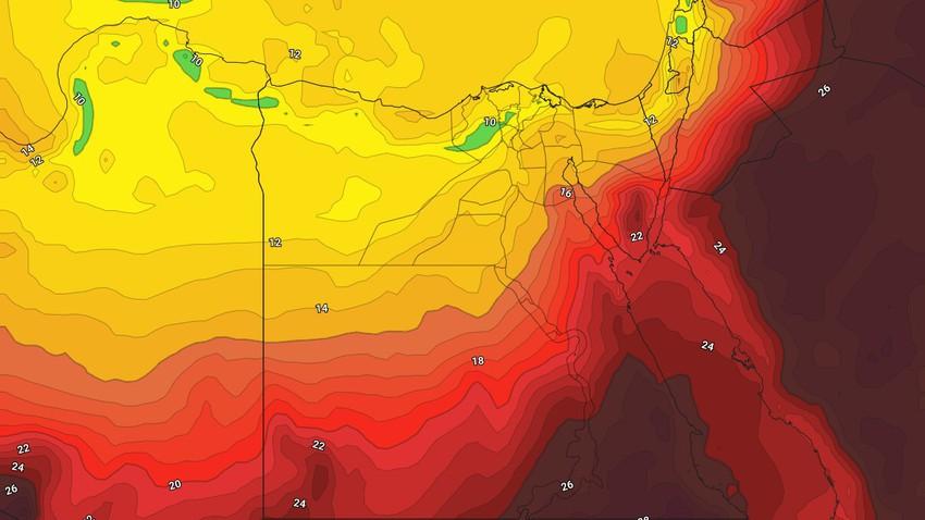 مصر - النشرة الأسبوعية | مُنخفض خماسيني ورياح نشطة مطلع الأسبوع وتباين كبير على درجات الحرارة باقي الايام