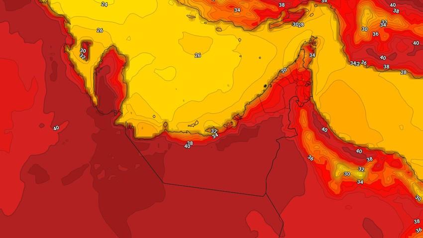 الإمارات | استمرار الاجواء الحارة إلى شديدة الحرارة يوم الاحد