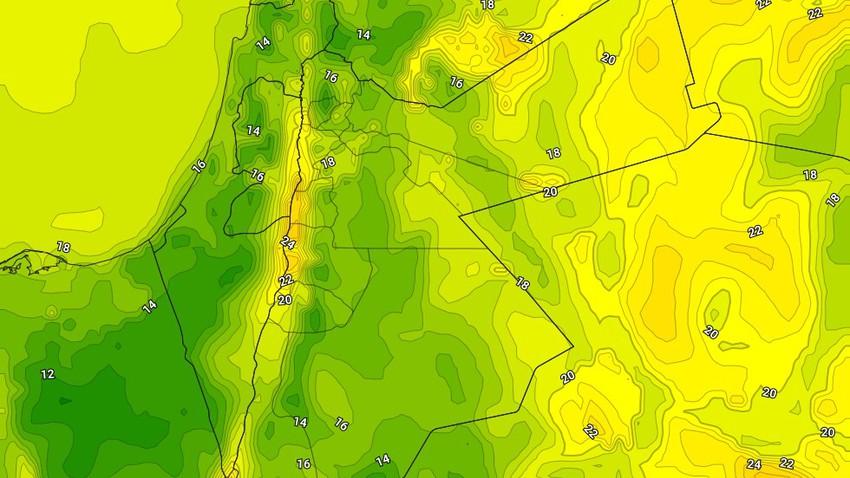 الليلة | طقس مُعتدل وبقاء الفرص واردة لزخات محدودة من الامطار في بعض المناطق