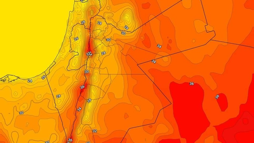 Jordan | A slight rise in temperatures on Friday as the weather remains moderate
