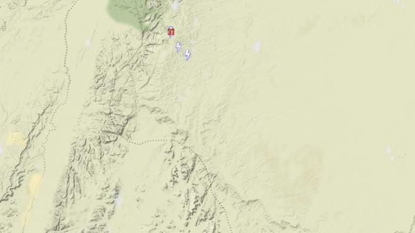 الأردن | سُحب رعدية تتشكل في أجزاء من وادي رم وجبال الشراه واستمرار فرص الأمطار الرعدية الساعات القادمة