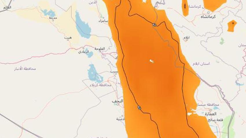 العراق   تنبيه من رياح نشطة وغُبار على هذه المناطق الخميس