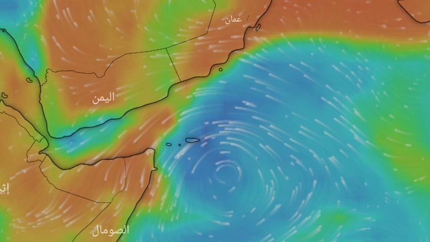 بحر العرب | اضطراب مداري قد يتحول الى منخفض مداري خلال نهاية الأسبوع الحالي