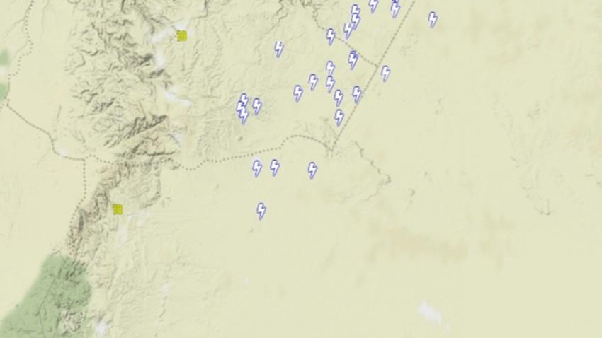 الأردن | سُحب رعدية على اجزاء من جنوب المملكة واستمرار فرص هطول الأمطار الرعدية الخميس
